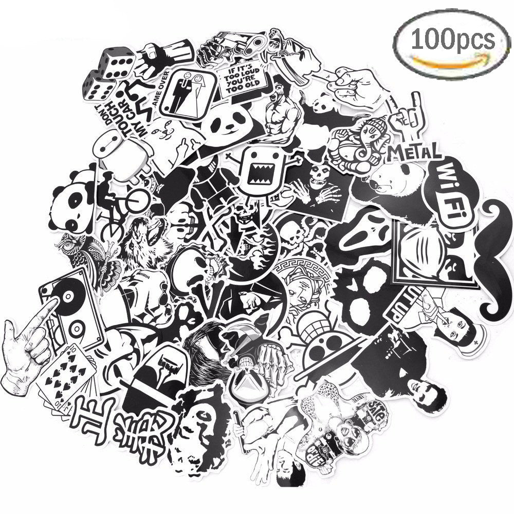 graffiti sticker white black sticker