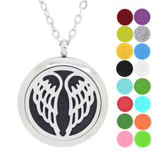 dotiow wing aromatherapy essential oil idffuser locket necklace stainless steel pendant