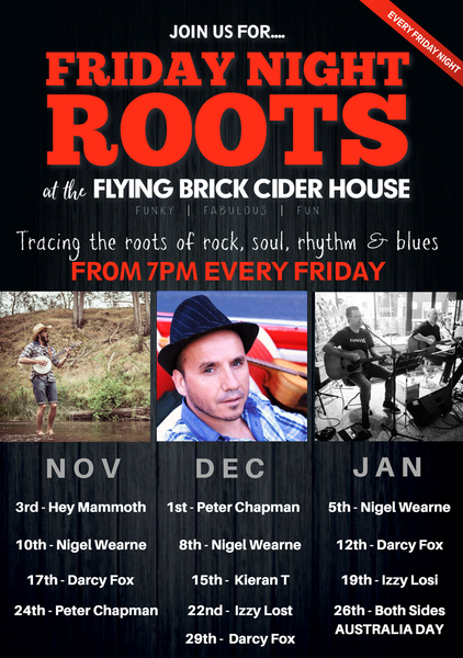 Friday Night Roots - Nov, Dec & Jan