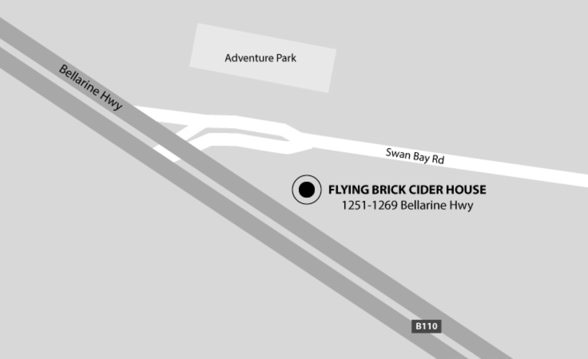 Bellarine Peninsula Flying Brick Cider House Location