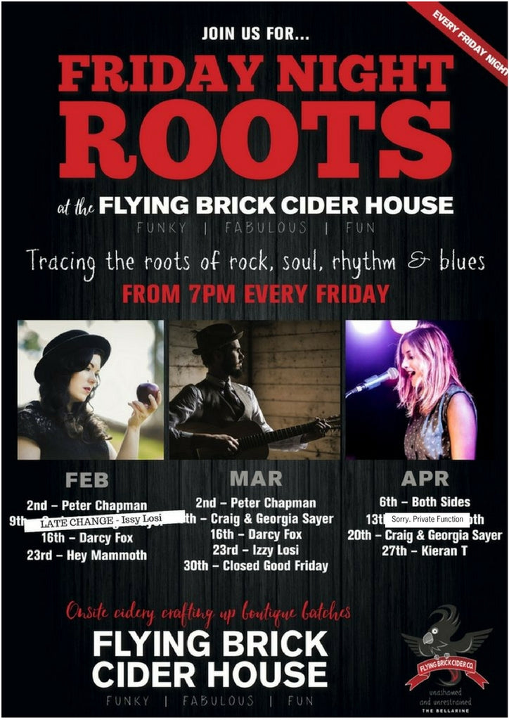 Friday Night Roots - Feb March April