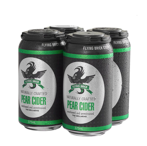 Flying Brick Pear Cider Cans