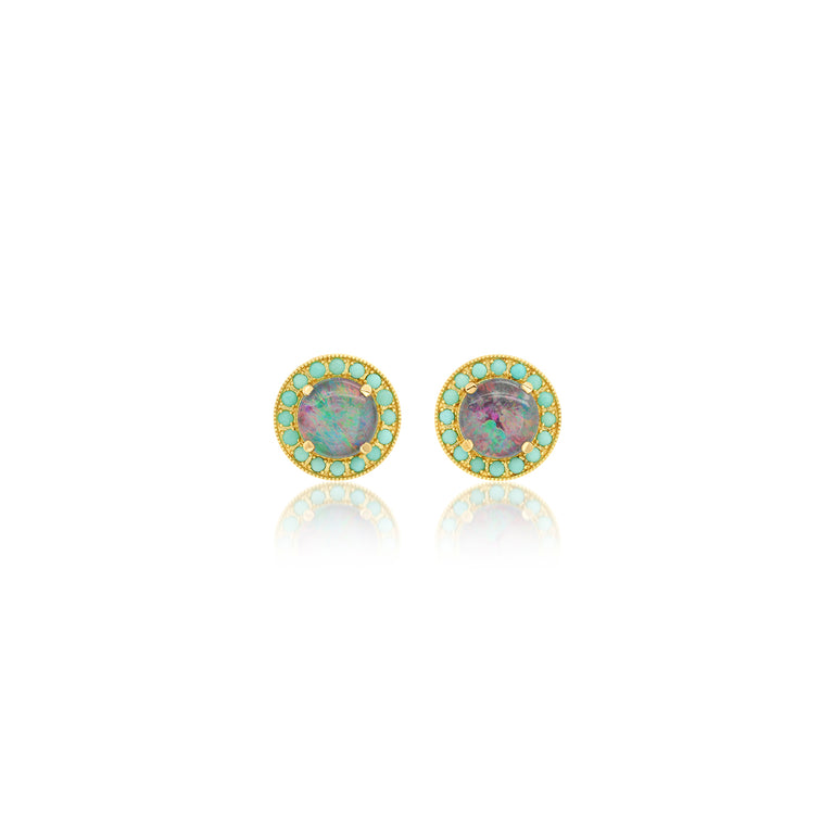 Kat Opal & Turquoise Studs