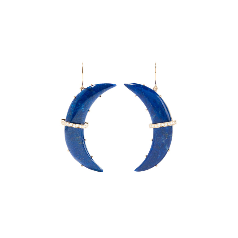 Large Lapis Astrid Earrings