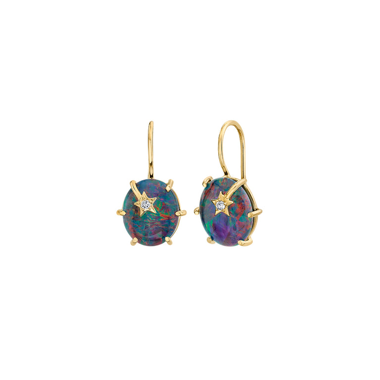 Mini Galaxy Australian Opal Earrings