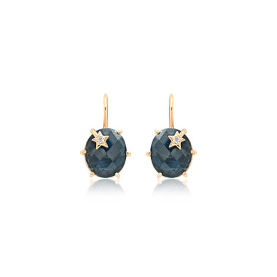 Mini Galaxy Star Larbradorite Earrings