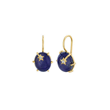 Mini Galaxy Lapis Earrings
