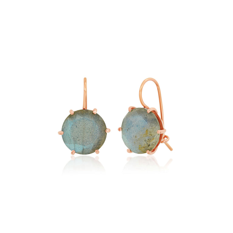 Round Labradorite Earrings