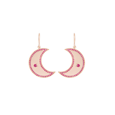 Ruby Crescent Earrings