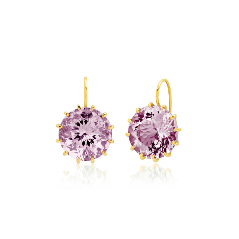 Round Rose De France Earrings