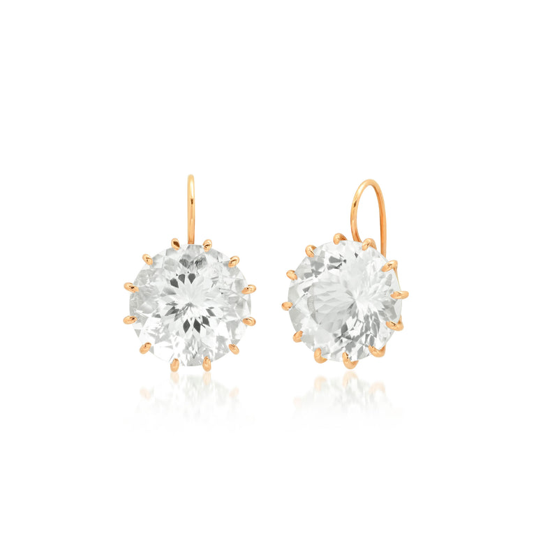 Rock Crystal Rose Gold Earrings