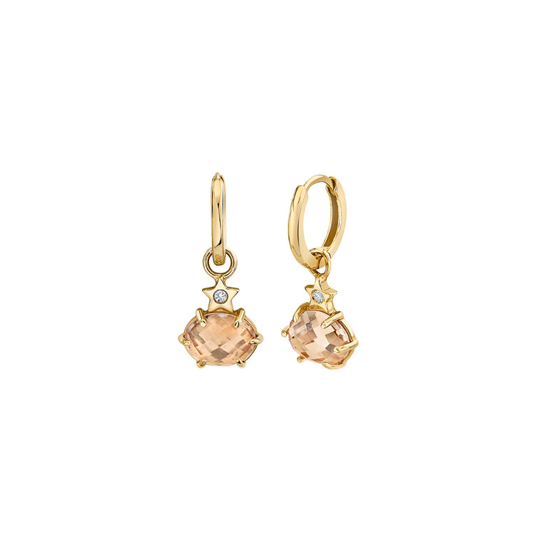 Mini Cosmo Morganite Hoops