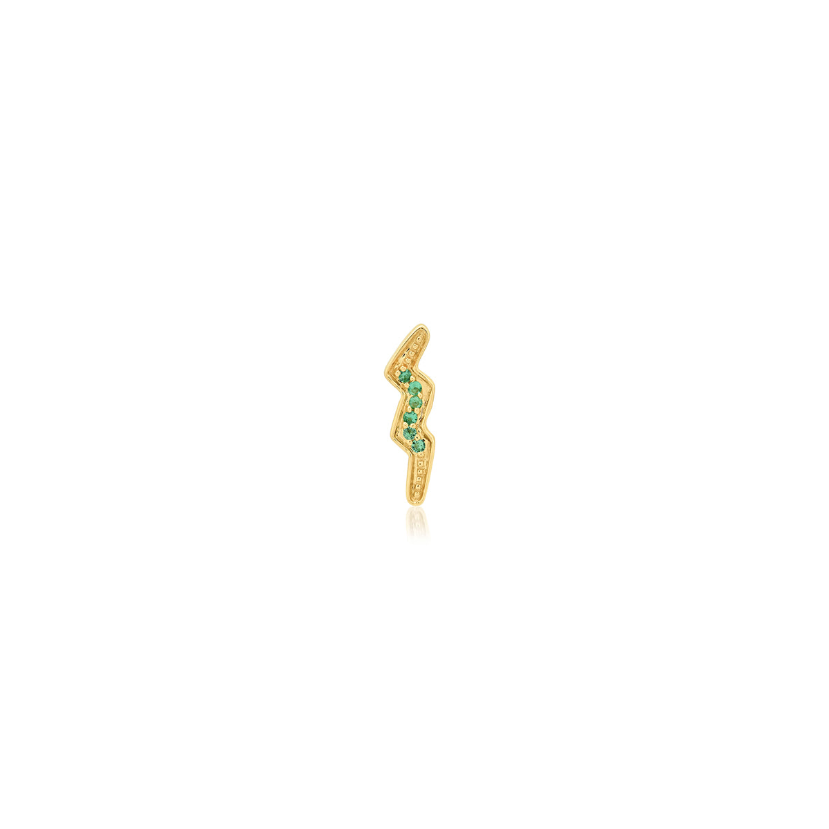 Mini Bolt Emerald Stud