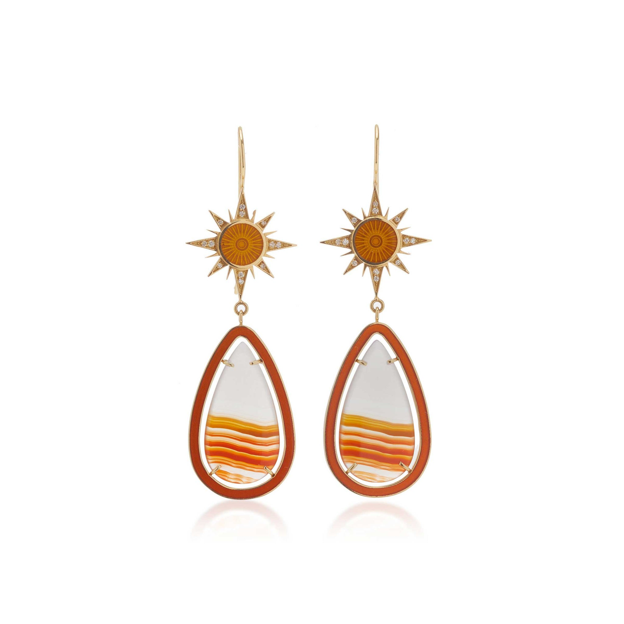 Sunbeam Enamel Earrings