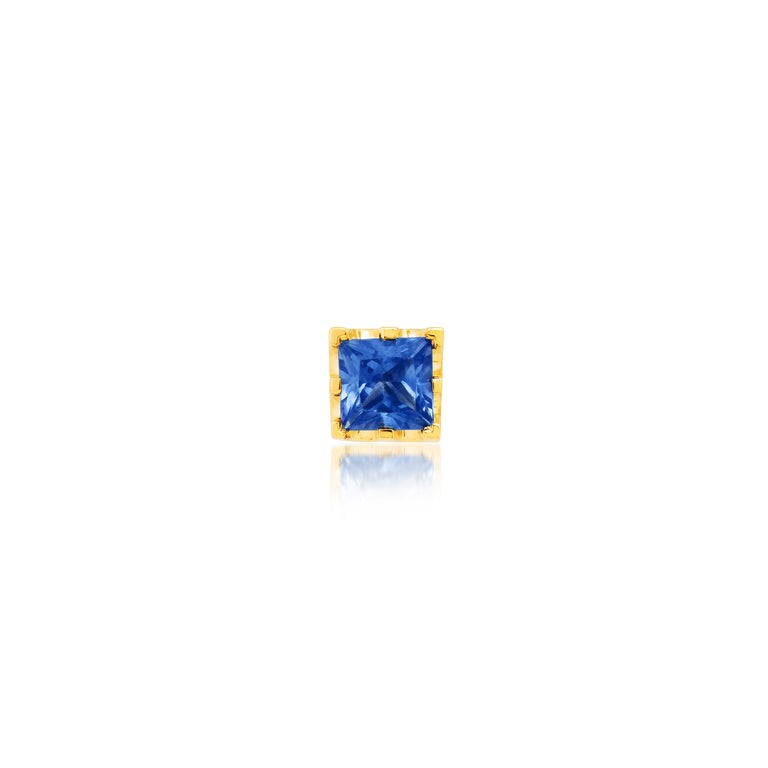 Square Blue Stud