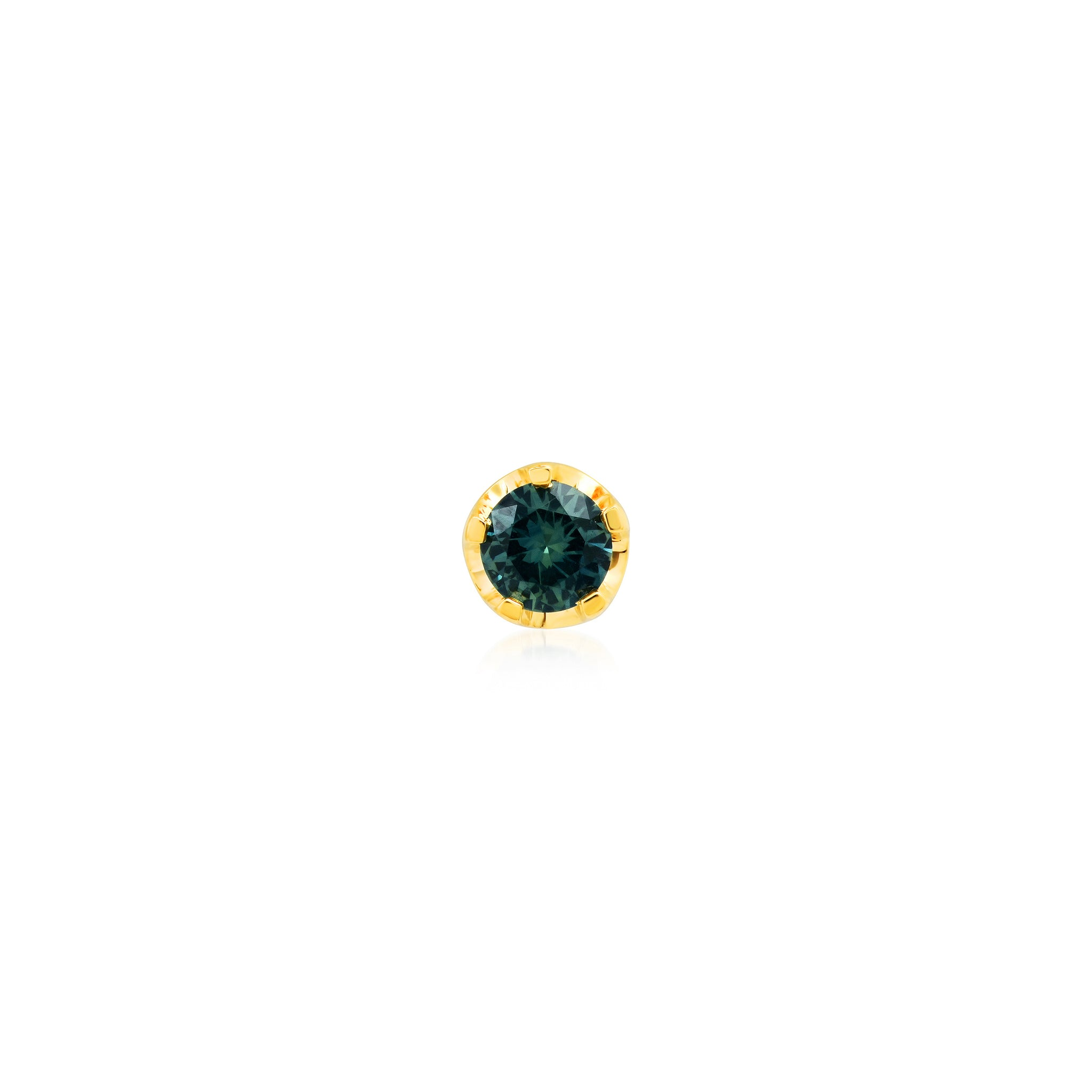 Round Blue/Green Stud
