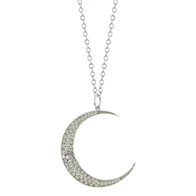 Large Ice Diamond Luna Necklace