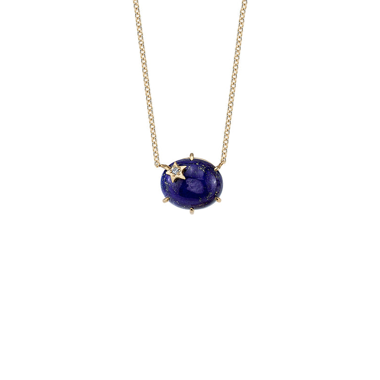 Mini Galaxy Lapis Necklace