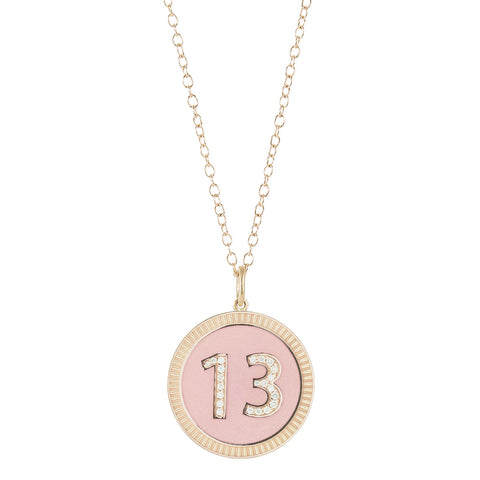 Enamel Large 13 Necklace