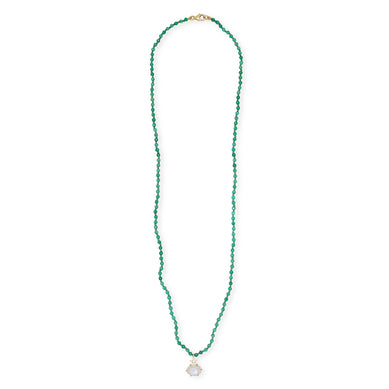 Green Onyx Beaded Necklace