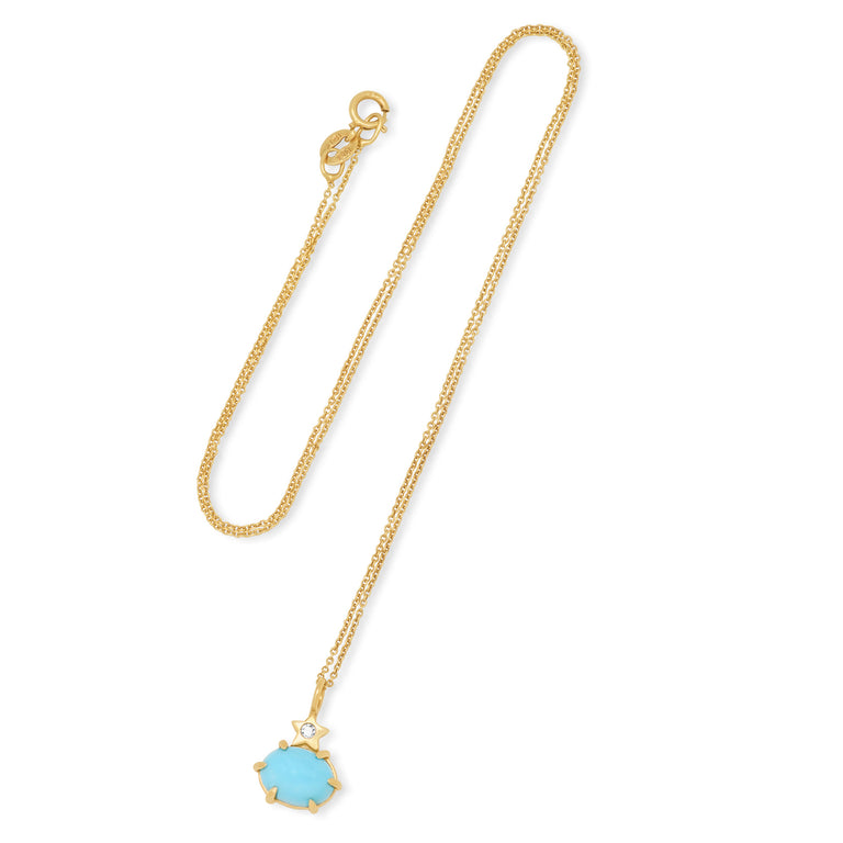Mini Cosmo Turquoise Necklace
