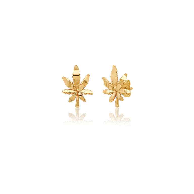 Mary Jane Leaf Studs