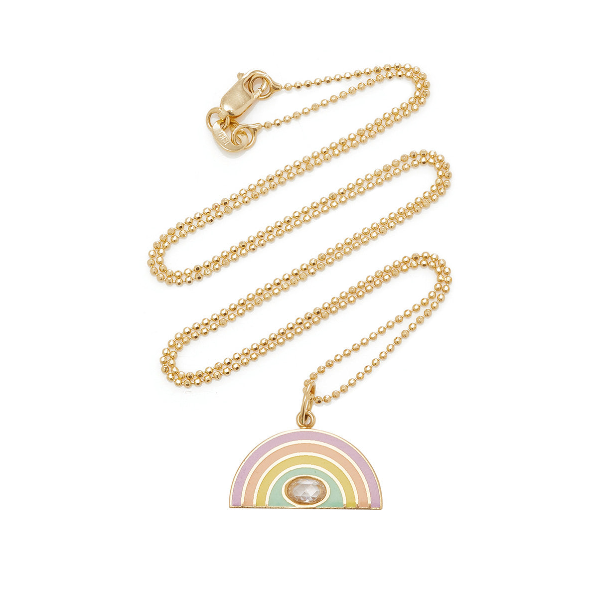 Colorful Enamel Rainbow Pendant