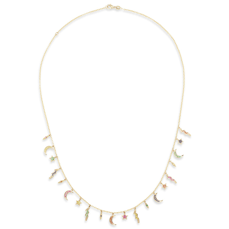 Multi Color Elements Necklace