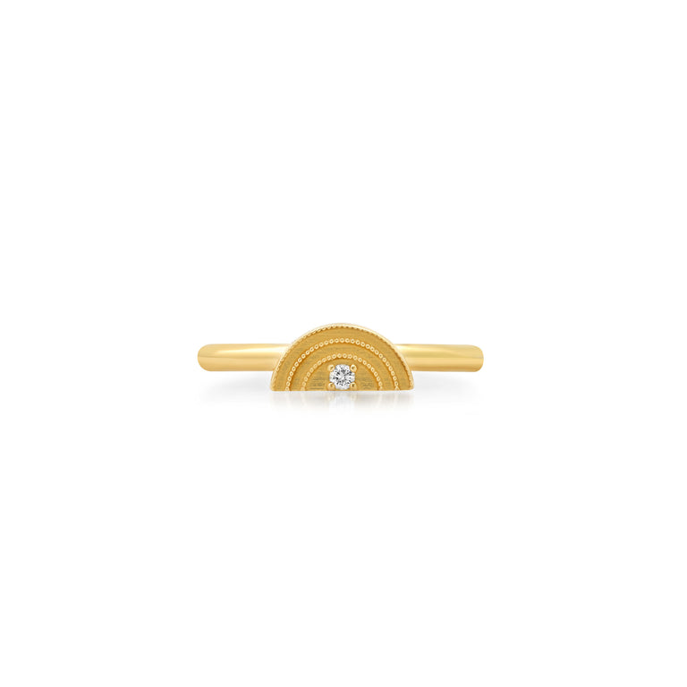 Mini Gold Rainbow Ring