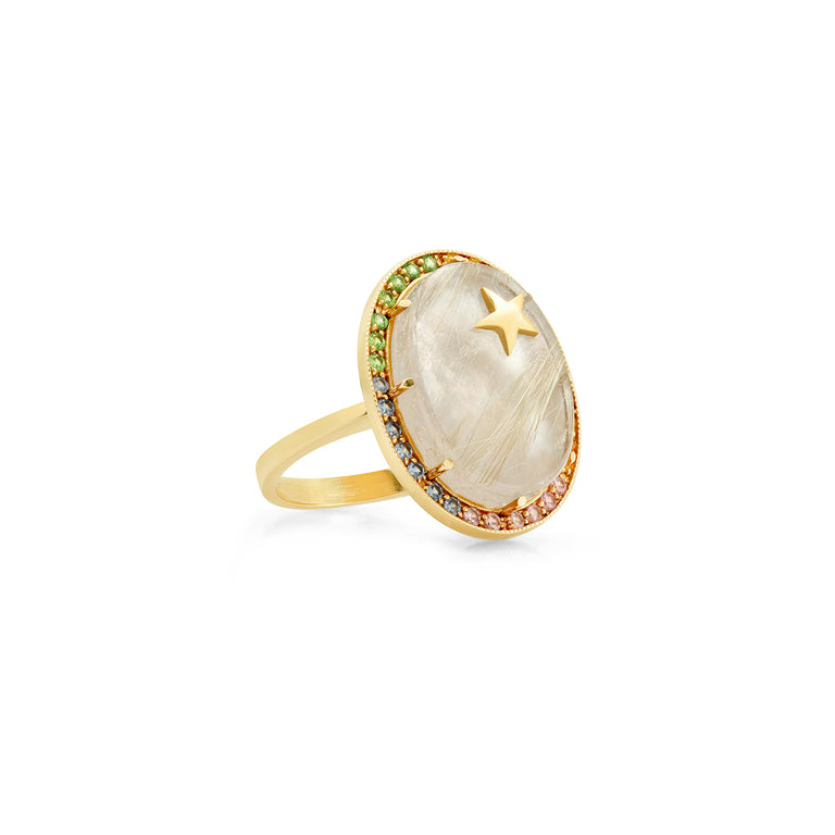 White Mother of Pearl Zenith Ring