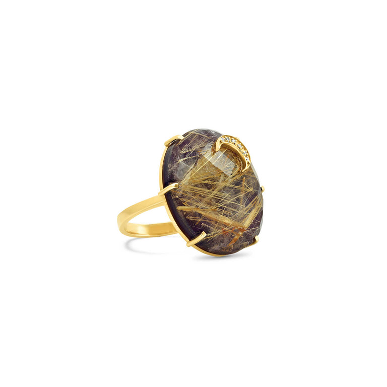Amethyst/Rutilated Quartz Ring
