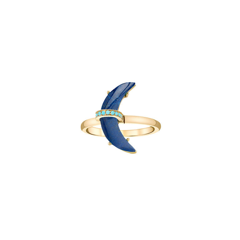 Small Lapis Astrid Ring