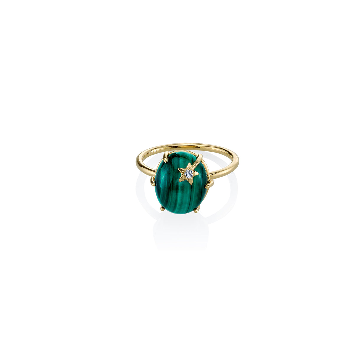 Mini Galaxy Malachite Ring