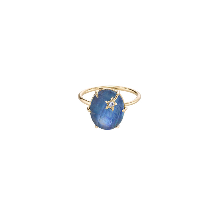 Mini Galaxy Rainbow Moonstone Ring