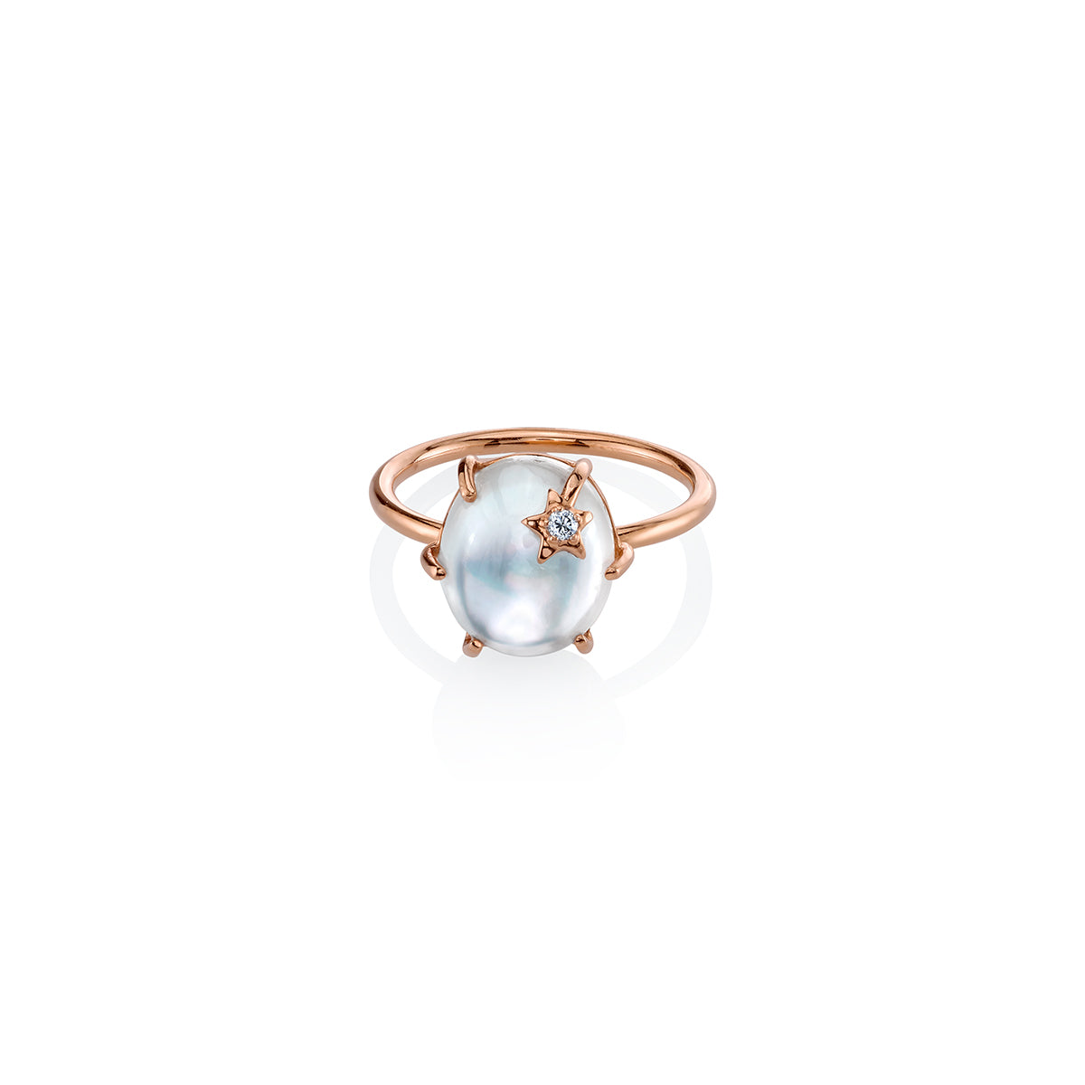 Mini Galaxy Mother of Pearl Ring