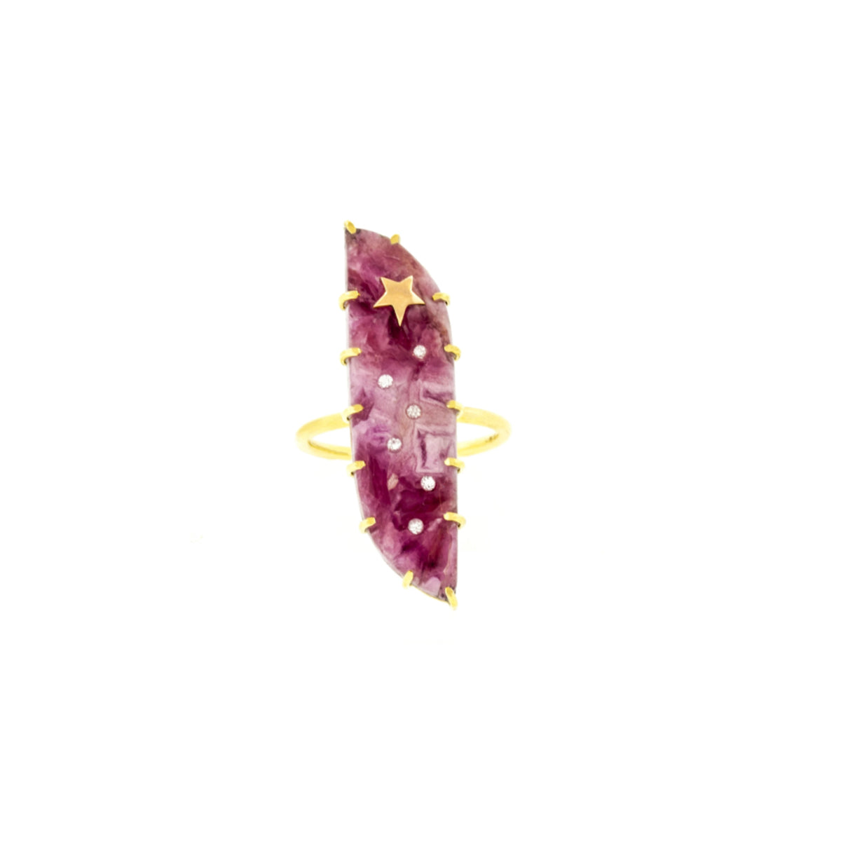 Cobalto Calcite Oblong Ring