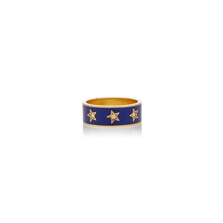 Thick Star Enamel Band