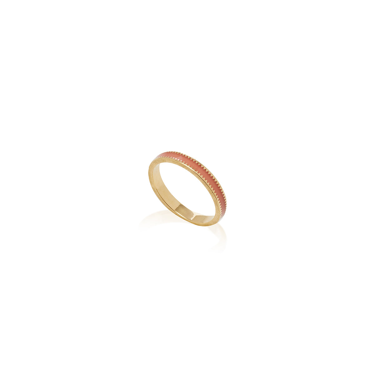 Thin Pink Enamel Band