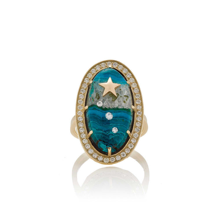 One Of A Kind Chrysocolla Oval Ring
