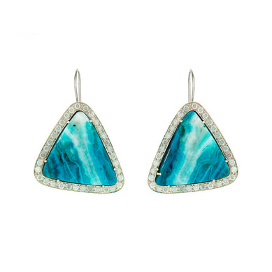 One of a Kind Chrysocolla Earrings