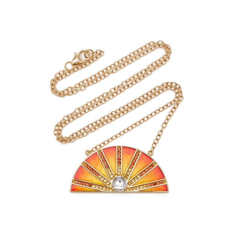 Enamel Sunset Necklace