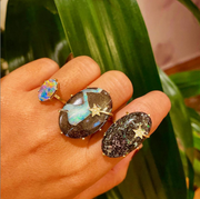One of a Kind Boulder Opal Ring