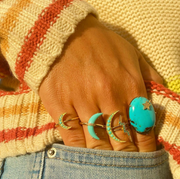 Medium Turquoise Luna Ring