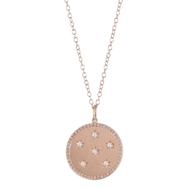 Large Diamond New Moon/Full Moon Phase Necklace