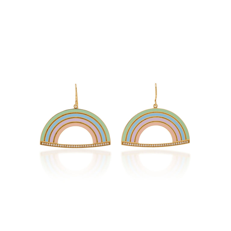 Exclusive Enamel Rainbow Earrings