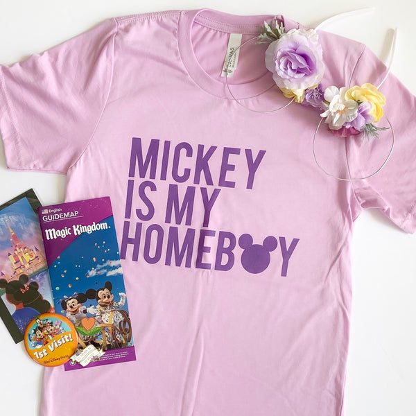 Mickey is my Homeboy - Lilac