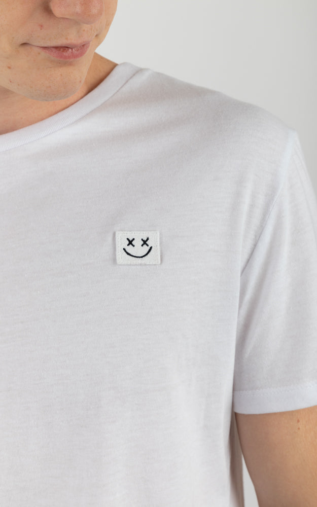 Smiley Face White