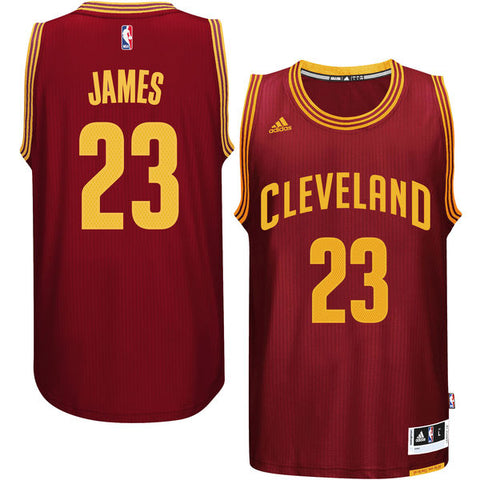 Lebron James #23 Cleveland Cavaliers Road Swingman Jersey - Burgundy