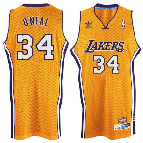 LA Lakers Shaquille O Neal #34 Swingman Home Jersey - Gold