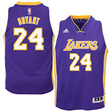 LA Lakers Kobe Bryant #24 Swingman Road Jersey - Purple